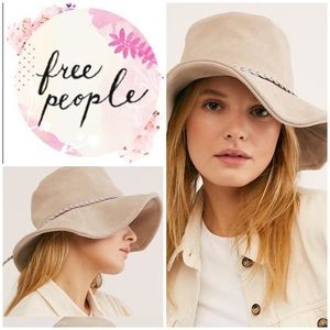 New Free People Tennessee Suede Floppy Bucket Hat